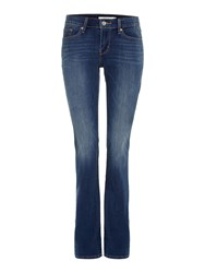 Levi's 715 Mid Rise Boot Cut Jean Denim Dark Wash