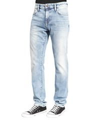 Mavi Jeans Jake Destroyed Slim Leg Jeans Light Pastel Blue