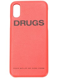 Raf Simons Drugs Iphone X Case Yellow And Orange