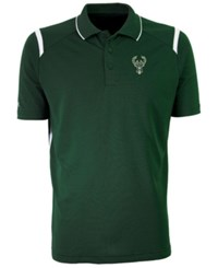 Antigua Milwaukee Bucks Merit Polo Shirt Darkgreen