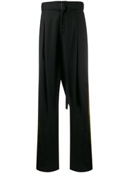 D.Gnak Side Stripe Trousers Black