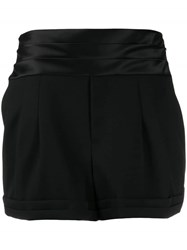 Saint Laurent High Rise Shorts Black