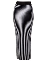 Christopher Kane Striped Maxi Pencil Skirt Black White