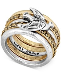 Lucky Brand Two Tone Bird Stack Ring Two Tone