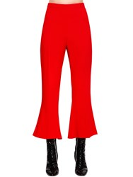 Antonio Berardi Flared And Cropped Cady Pants