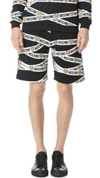 Moschino Underbear Taped Sweat Shorts Black