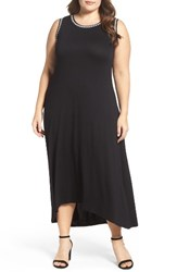 Vince Camuto Plus Size Women's Embroidered High Low Dress