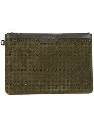 Jimmy Choo 'Derek' Clutch Green
