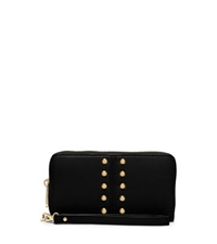 Michael Kors Astor Studded Leather Wristlet Black