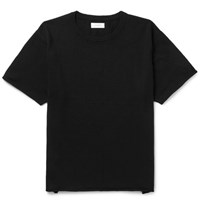 Saturdays Surf Nyc Pacho Knitted Cotton And Cashmere Blend T Shirt Black