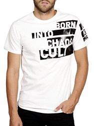 Cult Of Individuality Embossed Logo Slim Fit Tee White