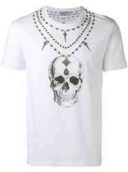 Alexander Mcqueen Skull Necklace Print T Shirt White