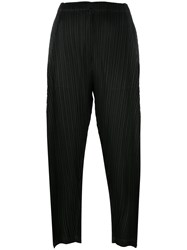 Issey Miyake Pleats Please By Pleated Trousers Black