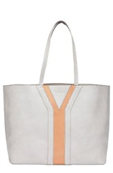 Urban Originals Streetstyle Faux Leather Tote Grey Grey Pink