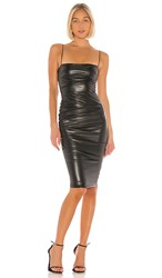 Nookie Posse Faux Leather Midi Dress In Black.