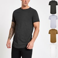 River Island Black Muscle Fit T Shirt Multipack