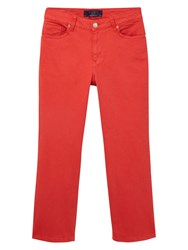 Violeta By Mango Cropped Trousers Bright Red
