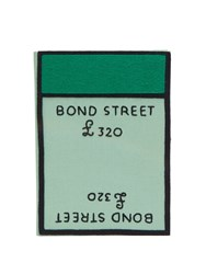 Olympia Le Tan Bond Street Board Game Embroidered Clutch Green