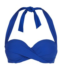 Gottex Halter Neck Bikini Top Female Blue