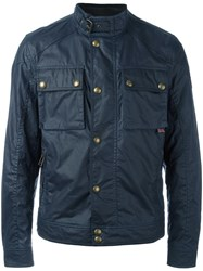 Belstaff 'Racemaster' Wax Jacket Blue