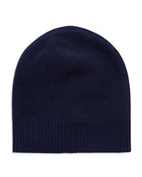 Vince Boiled Cashmere Beanie Royal Navy