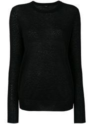 Joseph Crew Neck Jumper Women Cashmere S Black
