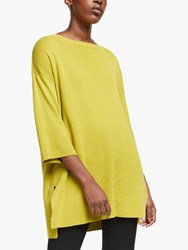 Eileen Fisher Cotton Silk Tunic Jumper Fern