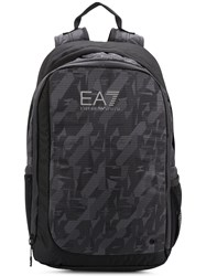 Emporio Armani Ea7 Printed Backpack Black