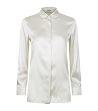 Armani Collezioni Long Sleeve Satin Shirt Female White