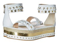 Just Cavalli Calf Leather With Mirror And Rope Off White