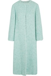 Emilia Wickstead Helena Boucle Coat Blue