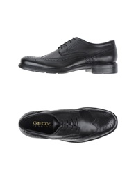 Geox Lace Up Shoes Black