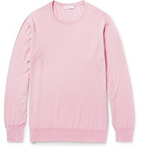 Richard James Slim Fit Virgin Wool Sweater Pink