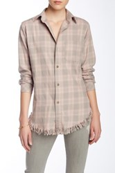 Current Elliott The Fringe Prep School Shirt Pink