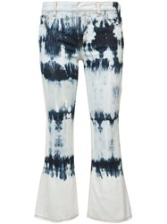 Faith Connexion Tie Dye Kick Flare Jeans Women Cotton Spandex Elastane 29 Blue
