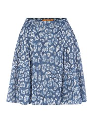 Hugo Boss Silk Mix Short Skirt Blue Multi