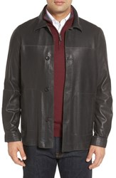 Missani Le Collezioni Men's Vintage Lambskin Leather Reversible Jacket