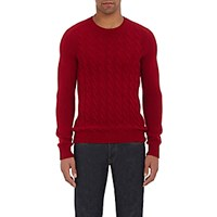 Zanone Men's Cable Knit Sweater Red