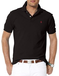 Polo Big And Tall Classic Fit Mesh Shirt Polo Black