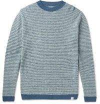 Norse Projects Arlid Textured Knit Sweater Navy