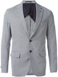 Mp Massimo Piombo Houndstooth Blazer Black