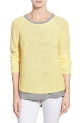 Women's Eileen Fisher Organic Linen Knit Ballet Neck Top Daisy