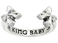 King Baby Studio Open Ring W Mb Crosses Silver Ring