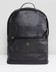 Asos Backpack In Black Leather With Emboss Detail Black