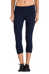Solow Crop Ruffle Legging Navy
