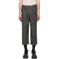 R 13 R13 Grey Check Cross Over Trousers