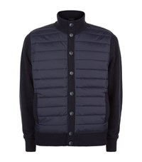 Hackett Quilted Front Cardigan Male Navy