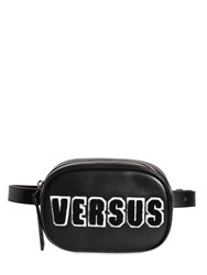 Versus Logo Patches Leather Belt Pack Black