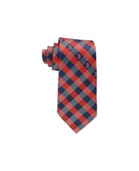Eagles Wings Boston Red Sox Checked Tie Red Navy