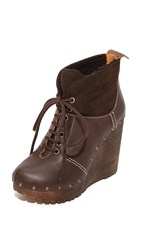 See By Chloe Clive Platform Lace Up Booties Mouse